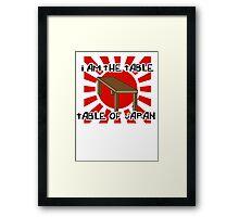 """""""table of japan"""" Framed Print"""