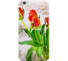 HDR French Red Tulips  iPhone Case/Skin