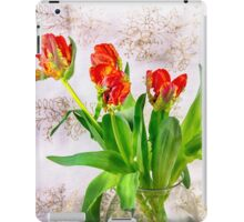 HDR French Red Tulips  iPad Case/Skin