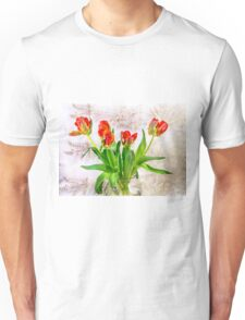 HDR French Red Tulips  Unisex T-Shirt