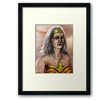Old Wonder Woman Framed Print