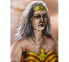 Old Wonder Woman Photographic Print