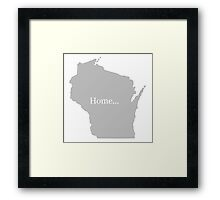 Wisconsin Home Tee Framed Print