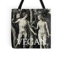 The First Vegans - Adam and Eve Tote Bag