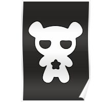 Lazy Bear Black and White Poster