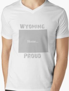 Wyoming Proud Home Tee Mens V-Neck T-Shirt