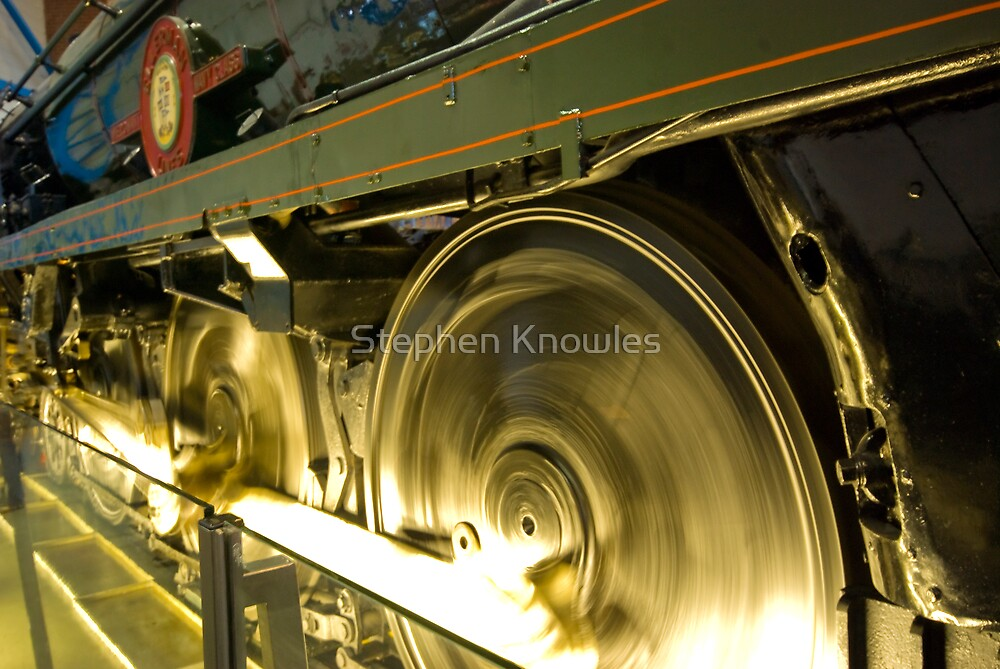 Steam Train Wheels by Stephen Knowles