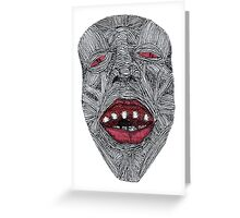 Muscle Face 1  Greeting Card