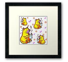 Tabby the singing kitty cat Framed Print