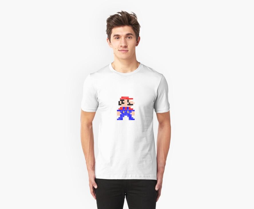 Pixel Mario rough by BenVenom