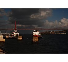Tugboat in the Sun Photographic Print