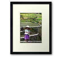 RICE BABY - PHILIPPINES Framed Print