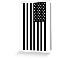 Black And White American Flag Greeting Card