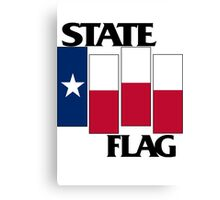 Texas State Flag (Black Flag inspired) Canvas Print