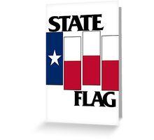 Texas State Flag (Black Flag inspired) Greeting Card