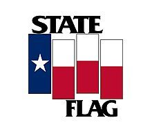 Texas State Flag (Black Flag inspired) Photographic Print