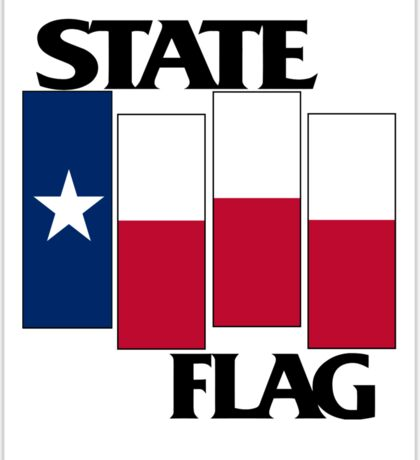 Texas State Flag (Black Flag inspired) Sticker