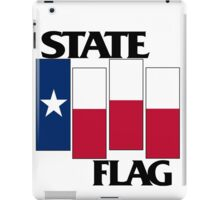 Texas State Flag (Black Flag inspired) iPad Case/Skin