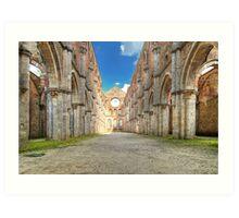Abbey of Saint Galgano - The Nave and the Aisles - San Galgano Art Print