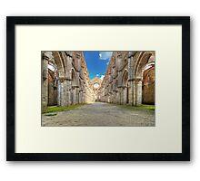 Abbey of Saint Galgano - The Nave and the Aisles - San Galgano Framed Print