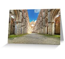 Abbey of Saint Galgano - The Nave and the Aisles - San Galgano Greeting Card