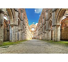 Abbey of Saint Galgano - The Nave and the Aisles - San Galgano Photographic Print