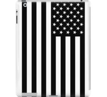Black And White American Flag iPad Case/Skin