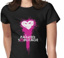 Painted Sabotage Womens Fitted T-Shirt