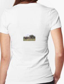 ELEPHANT WALK TSAVO NATIONAL PARK KENYA Womens Fitted T-Shirt