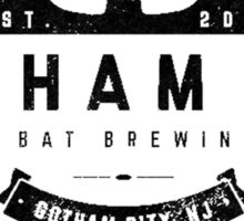 Arkham Ale - Black on White Sticker