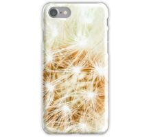 Elegant White Dandelion Florets  iPhone Case/Skin