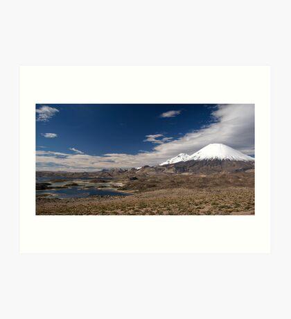 Volcán Parinacota - Chile Art Print