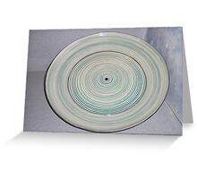 a ringed serving platter Greeting Card