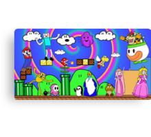 Super Mario Adventure Time  Canvas Print