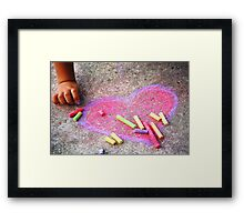 Expression of a Childs Love Framed Print