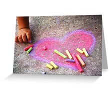 Expression of a Childs Love Greeting Card