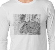 Moose-alicious Zentangle Doodle Long Sleeve T-Shirt
