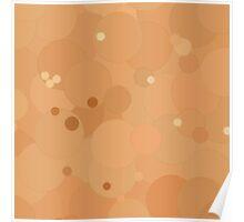 Peach Cobbler Bubble Dot Color Accent Poster