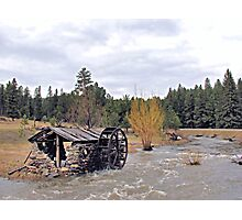 Old Water Wheel Shed Photographic Print