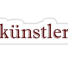 German Artist Sticker