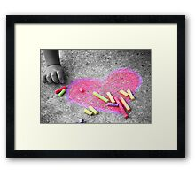 Expressions of a Childs Love (Not Always Black and White) Framed Print