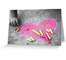 Expressions of a Childs Love (Not Always Black and White) Greeting Card