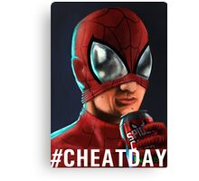 Spiderman - #CHEATDAY Canvas Print