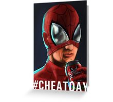 Spiderman - #CHEATDAY Greeting Card