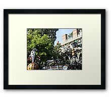 Haunted Holiday Mansion Framed Print