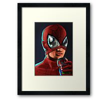 Spiderman - Spidey Cola Framed Print