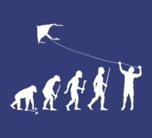 Kite Flying Evolution T Shirt by movieshirtguy