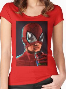 Spiderman - Spidey Cola Women's Fitted Scoop T-Shirt