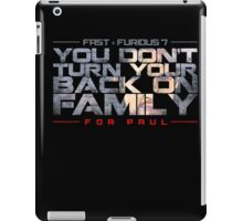 fast and furious- for paul iPad Case/Skin