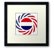 Dutch American Multinational Patriot Flag Series Framed Print